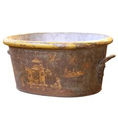 18th Century Tole Foot Bath