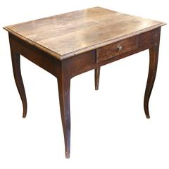 French Early 19th Century Walnut Side Table