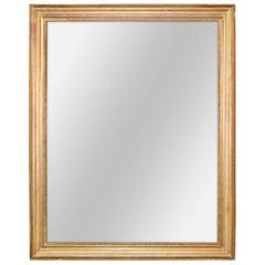 19th Century French Giltwood Mantel Mirror