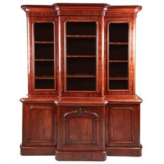 Super Quality Victorian Mahogany Breakfront Bookcase