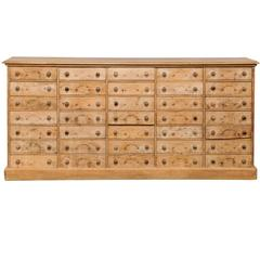 Large 19th Century French 11-Drawer Pine Apothecary