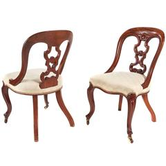 Good Quality Pair of Victorian Mahogany Desk Chairs