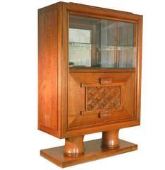 Charles Dudouyt, Art Deco Oak Cabinet