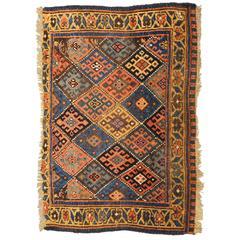 Antique Afshar Last Quarter 19th Century, Ethnic, Tribal Design with Diamonts