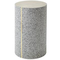 Rubber Cylinder in Gris Side Table by Slash Objects, Made in USA