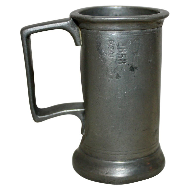 19th Century Pewter Measurer Anno, 1858 For Sale
