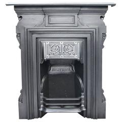 Beatrice, Late Victorian Cast Iron Bedroom Fireplace