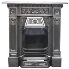 Late Victorian Cast Iron Combination Fireplace