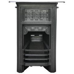 Unusual 19th Century Victorian Arts & Crafts Bedroom Fireplace
