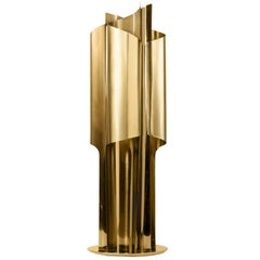 Brush Brass Table Lamp