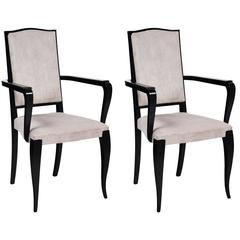 French Bridge Art Deco Armchairs