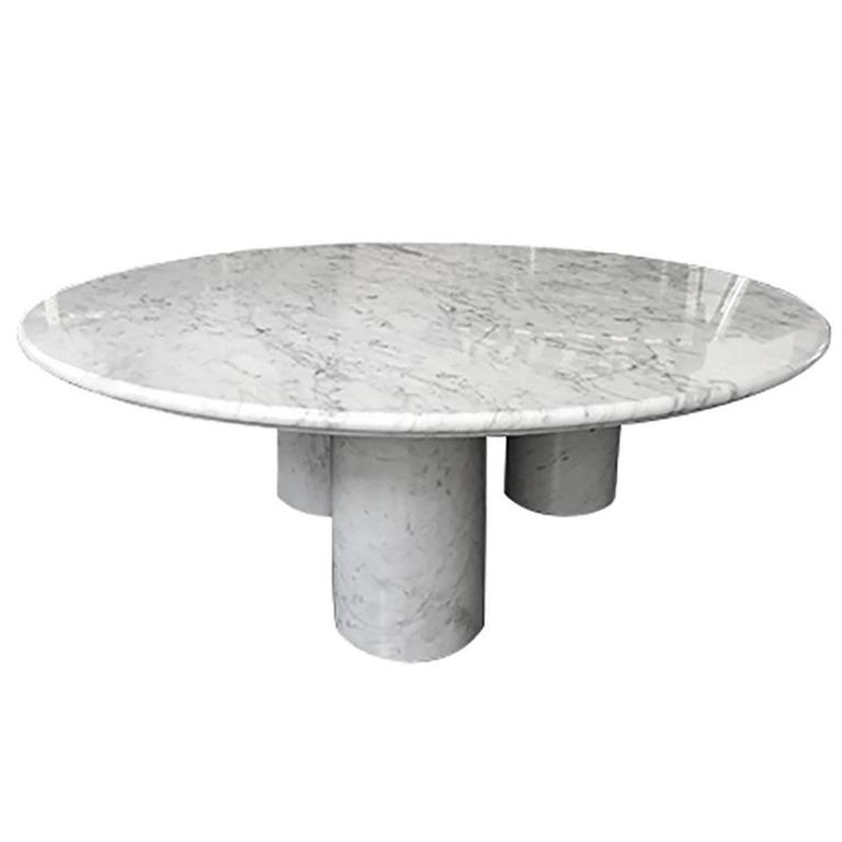Il Colonnato Coffee Table In Carrara Marble By Mario Bellini 1970s For Sale At 1stdibs