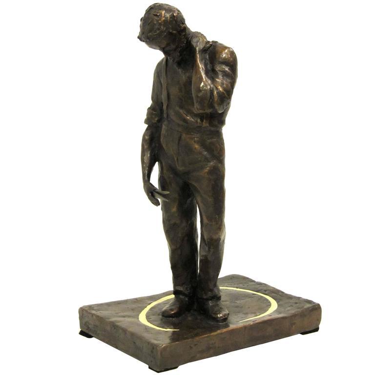 'Tom Wills' Bronze Sculpture by Martin Tighe
