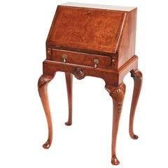 Attractive Queen Anne Style Burr Walnut Bureau