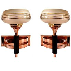 Art Deco Machine Age Wall Light Sconces