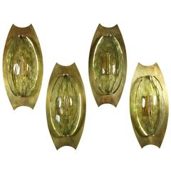 Fantastic Pair of Murano Glass Sconces Attributed to Fontana Arté