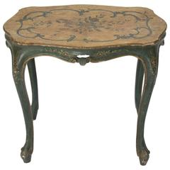 Italian Painted Side Table, Venice, 1850
