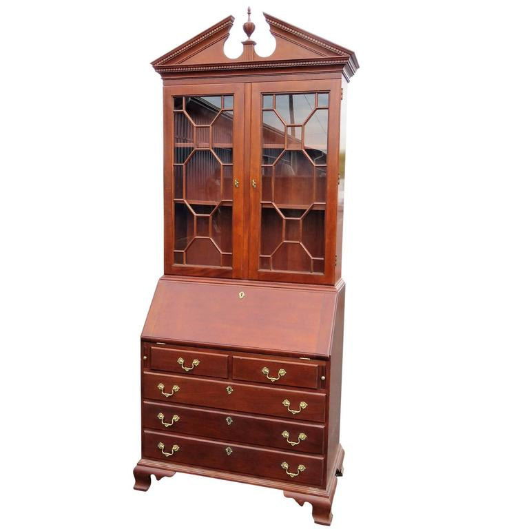 Stickley Secretary Desk With Bookcase Top For Sale At 1stdibs
