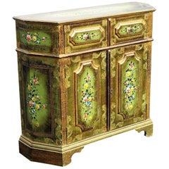 Venetian Paint Decorated Two-Door Cabinet