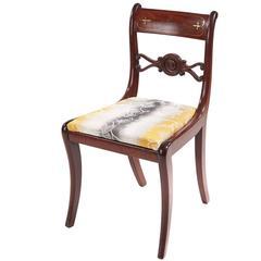 Regency Mahogany Brass Inlaid Desk Chair