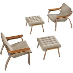 Mid Century Modern Ottomans And Poufs 509 For Sale At