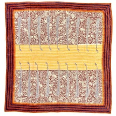 Rare Tribal Kantha Throw Blanket