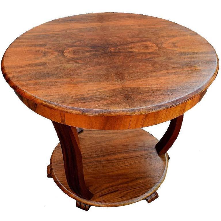 English Art Deco Coffee Table In Figured Walnut 1