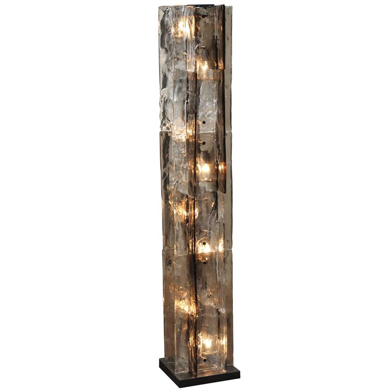 Mazzega Glass Floor Lamp by Carlo Nason For Sale