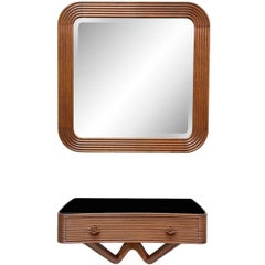 Osvaldo Borsani Wall Console and Mirror