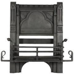 William Burges by Francis Skidmore, A Rare Gothic Revival Cast Iron Fire Insert