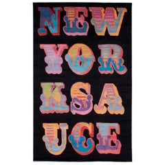 "Area Rug by Street Artist Ben Eine ""New York Sauce"", 2014"