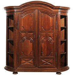 French Early 19th Century Louis XIII Style Walnut Armoire