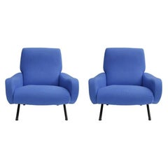 Pair of Armchairs Mod, Lady Designed by Marco Zanuso and Edited by Arflex