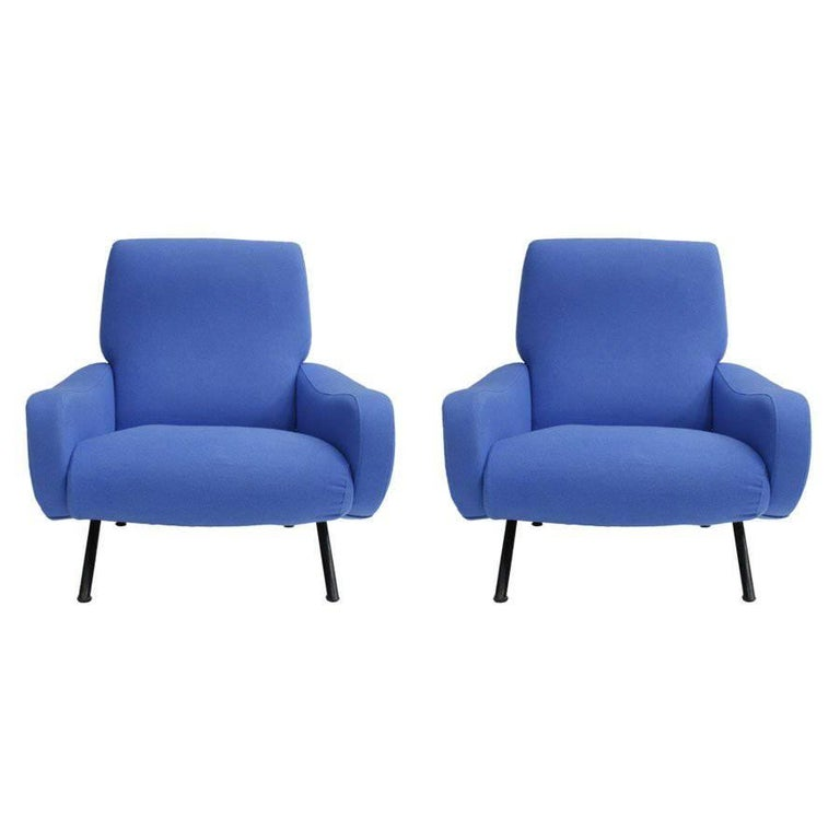 Pair of Armchairs Mod, Lady Designed by Marco Zanuso and Edited by Arflex 1