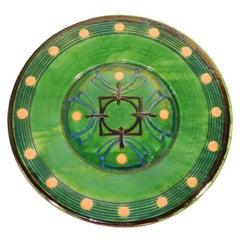 Very Large Ceramic Platter Signed Biot, circa 1960
