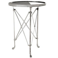 Lions Side Table in Antique Silver Plated or Bronze Finish