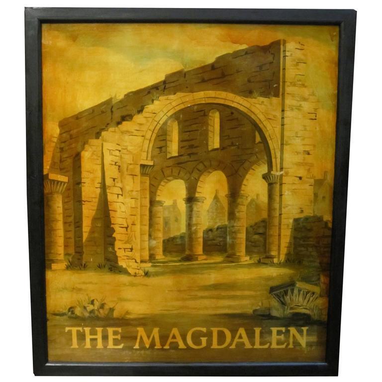 English Pub Sign, the Magdalen