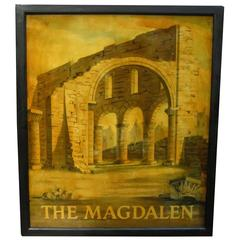 English Pub Sign, the Magdalen