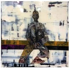 Resin Painting by Carla Tarruella, 151x151 cm