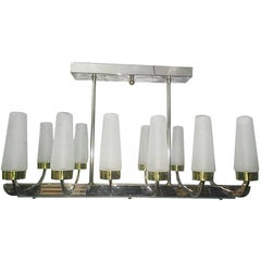 Large Moderne Horizontal Light Fixture