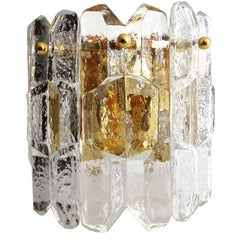 Kalmar  Murano Glass  Mirror Vanity Sconce, Style of Vistosi Seguso