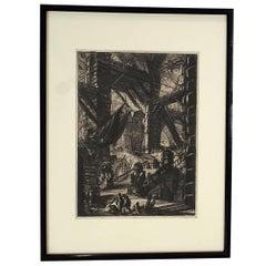"""Staircase with Trophies"", Piranesi ""Carceri"" Series, Paris Edition, ca. 1807"