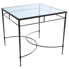 Italian Steel and Glass Patio Table