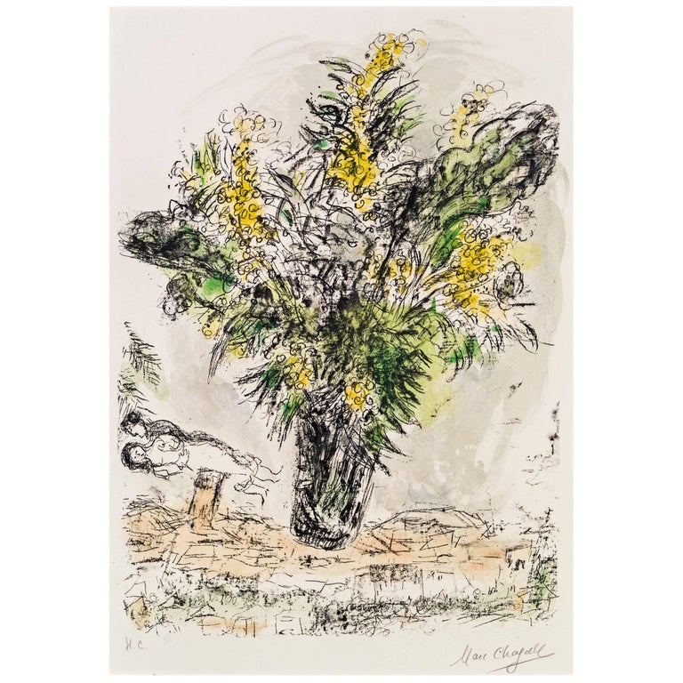 Marc Chagall, Les Mimosas, Paris, 1968