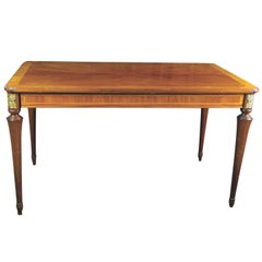 Biedermeier Style Extendable Marquetry Inlaid Dining Table Early 20th Century