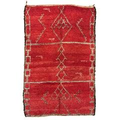 Red Moroccan Berber Rug