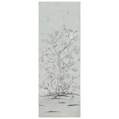 Schumacher Mary McDonald Chinois Palais Floral Grisaille Wallpaper Panel