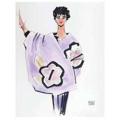 Michaele Vollbracht Fashion Drawing, Liz Taylor