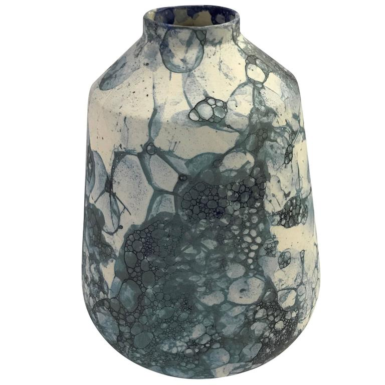 Bubble Design Ceramic Vase, Netherlands, Contemporary For Sale