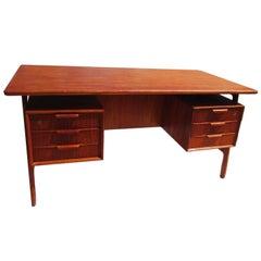 Danish Modern Mid-Century Teak Desk by Gunni Omann